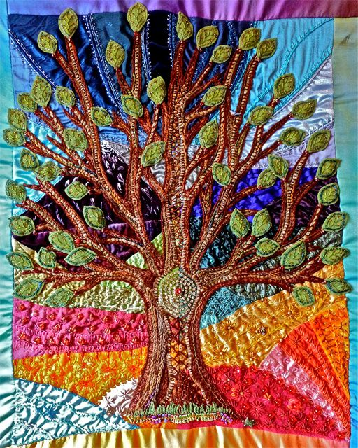 Star Quilt Embroidery Design : tree of life-evening star designs craziest crazy quilt ...