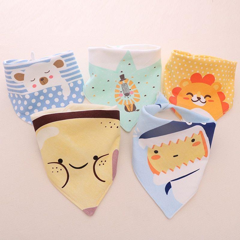 Baby Kids Cotton Waterproof Bandana Bibs Feeding Saliva Towel Dribble CH