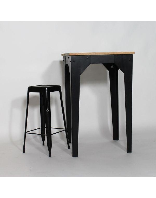 Table mange debout bois et métal industrielle - Made in Meubles - table salle a manger loft