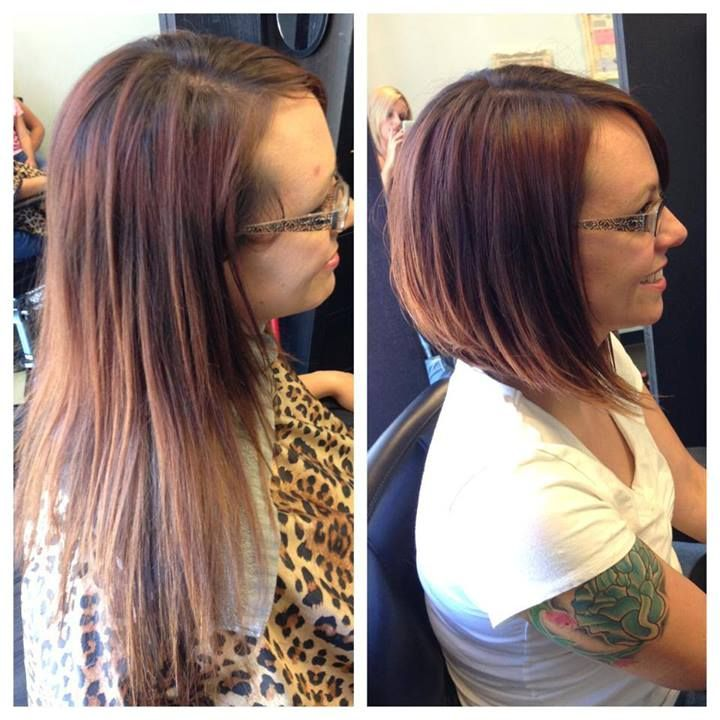 A Line Haircut Before And After Hair Pinterest Haircuts