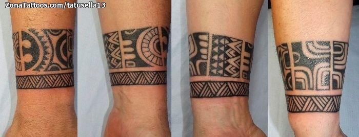 Tatuaje De Maoríes Muñeca Brazaletes Tattoos Tatuaje Maori