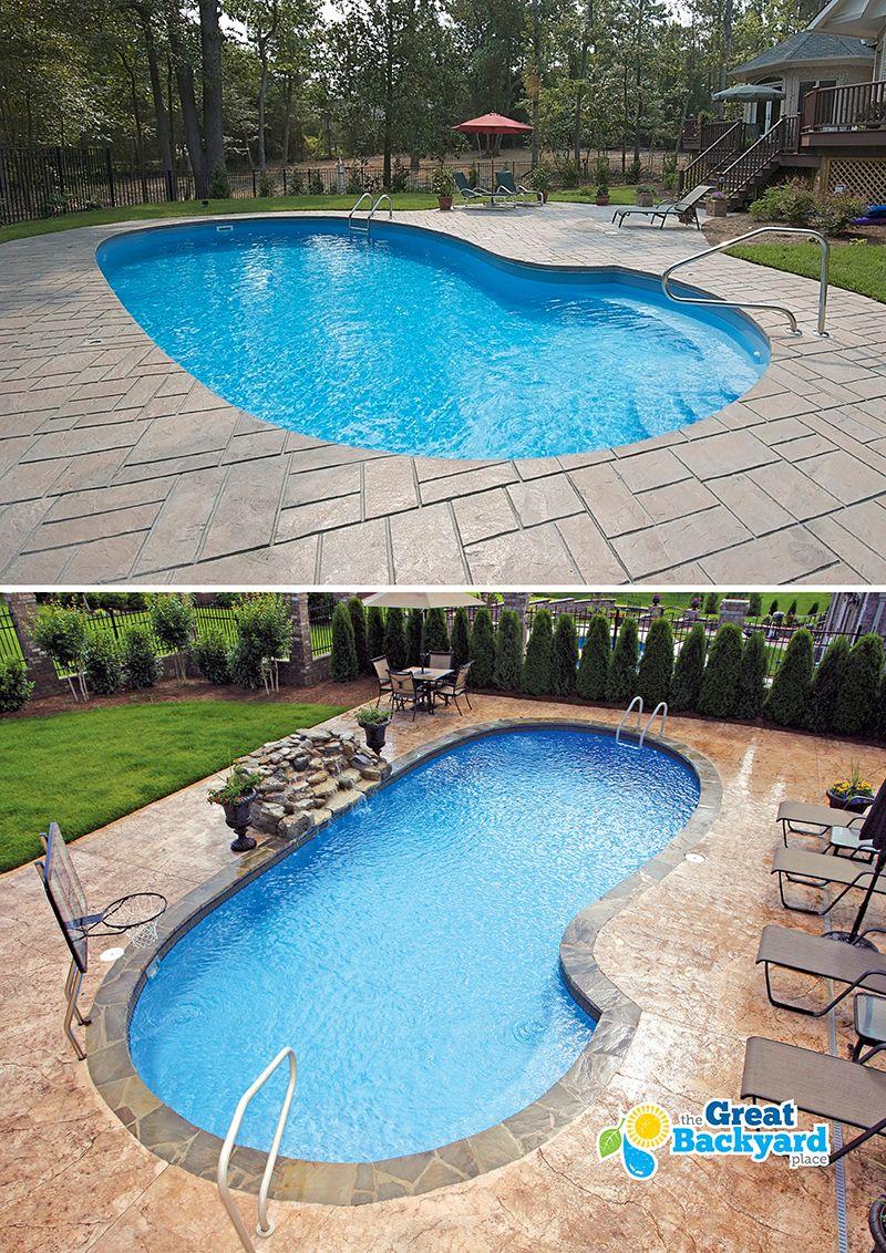 Equinox Kidney Fiberglass Pool In 2019 Fiberglass Pools