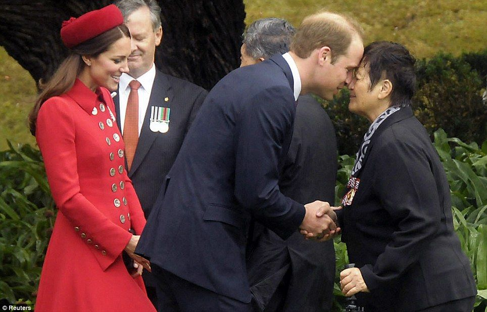 Duchess of cambridge attends official welcome in new zealand maori duchess kate m4hsunfo Images
