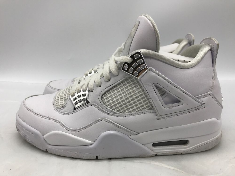 197b89406e2b1b Nike Air Jordan 4 Retro IV 2017 All White Silver Pure   Money 308497-100 Size  9  fashion  clothing  shoes  accessories  mensshoes  athleticshoes (ebay  link)