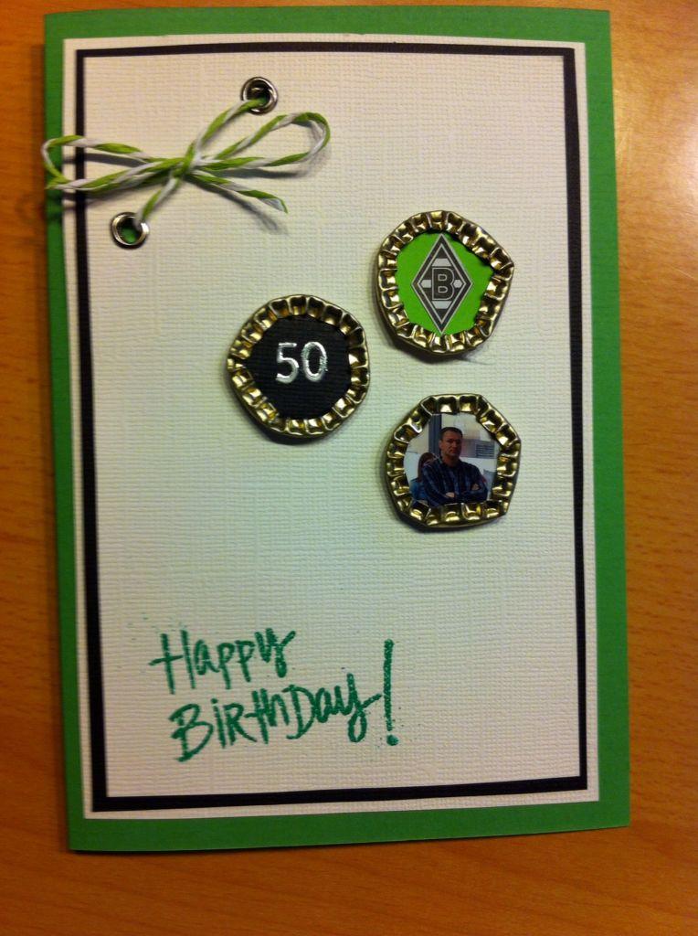 Fan-Geburtstagskarte zum 50.