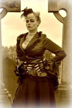 amazon satin corset bustle lace ruffle jacket gothic
