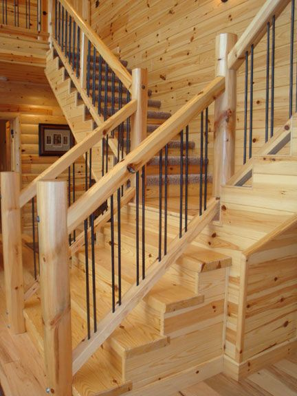 Best Knotty Pine Stair Treads In 2019 Wood Railings For 640 x 480