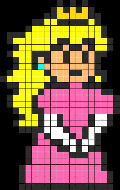 Princess Peach Perler Bead Pattern Bead Sprites Characters