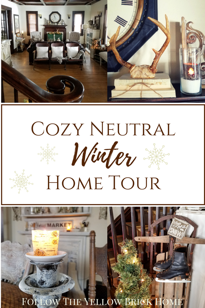 Cozy Neutral Winter Decor Neutral Decor Winter Decorating Ideas is part of Cottage home Winter - Find inspiring ideas for decorating your home for winter after the holidays using neutral decor  Check out cozy neutral home decor ideas and hygge design for your farmhouse or cottage style home