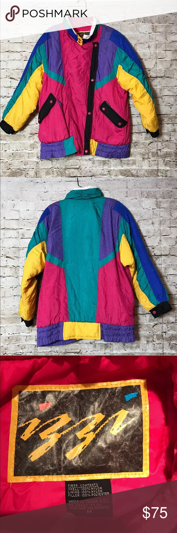 Vtg 80s 90s Izzi Freeze Play M Ski Jacket Coat Great Condition Measures About 28 5 From Shoulder To Bottom And About 26 Fro Ski Jacket Jackets Coats Jackets [ 1740 x 580 Pixel ]