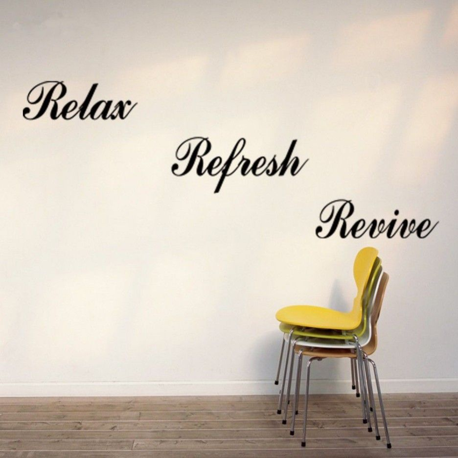 wall sticker decal yyone relax refresh renew wall saying vinyl diy lettering home decor decal stickers