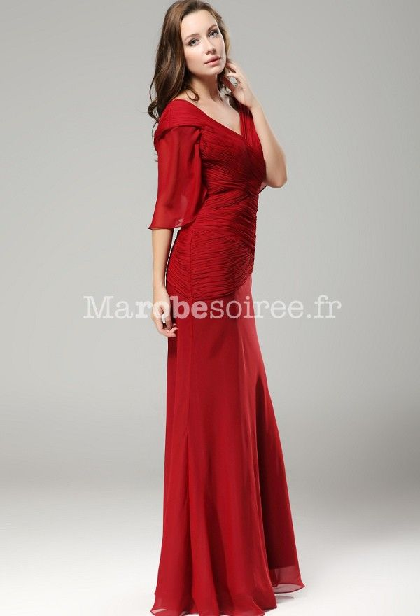 Modele robe longue mousseline