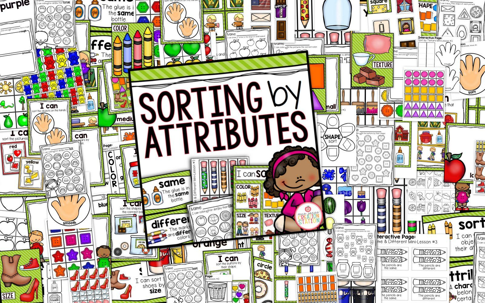 Sorting By Attributes Math Activity Pack