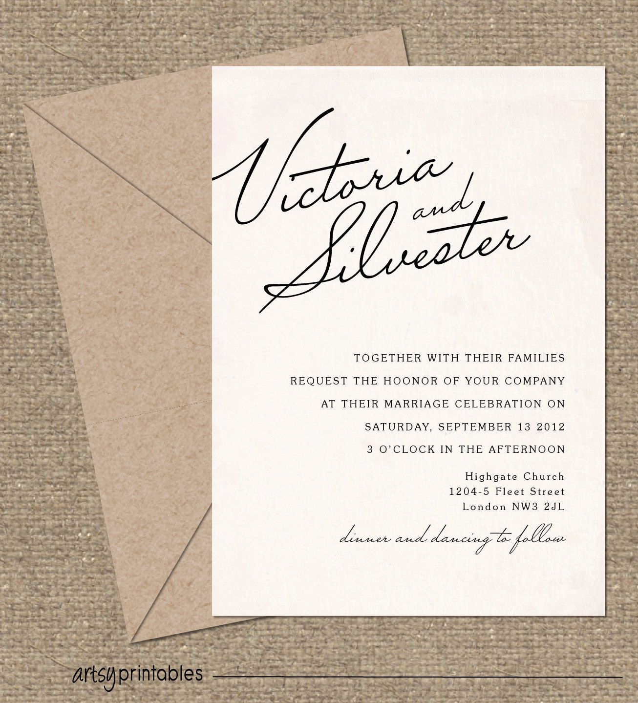 Wedding Invitation Wording Together With Their Parents: VINTAGE Wedding Invitations