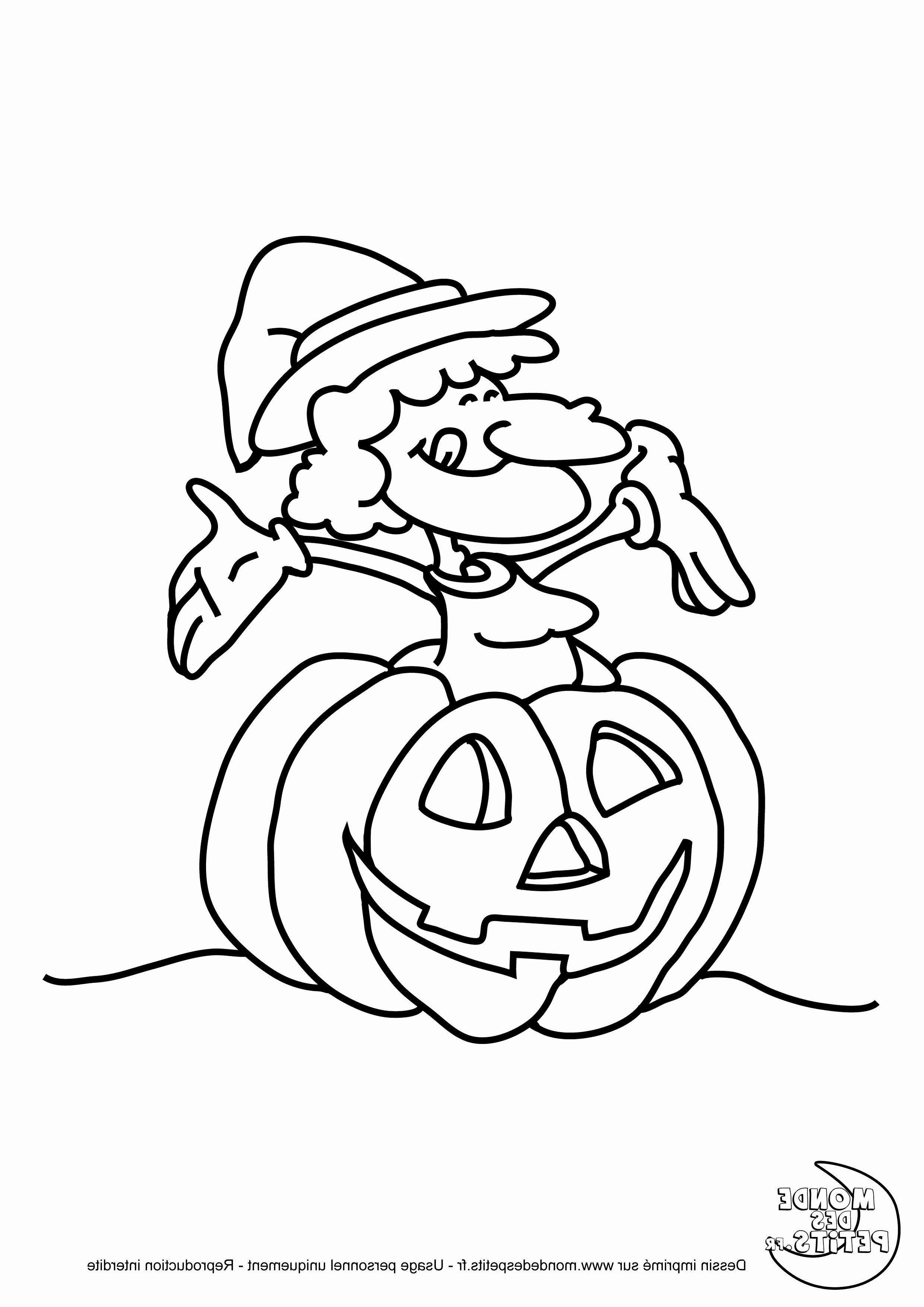 coloriage halloween a imprimer citrouille frais dessin de