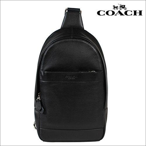 Coach Mens Leather Shoulder Crossbody Bag Charles Pack Backpack Black F54770