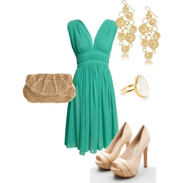 Turquoise Date Night Created By Mrssmyres On Polyvore Fashion Style Turquoise Dress