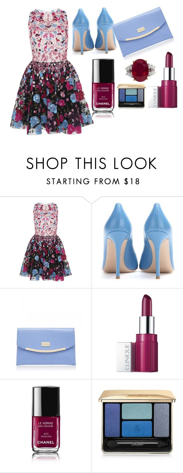 """""""Zuhair Murad Dress"""" by romi-kella on Polyvore featuring Zuhair Murad, Gianvito Rossi, Forever New, Clinique, Chanel, Guerlain, women's clothing, women, female and woman"""