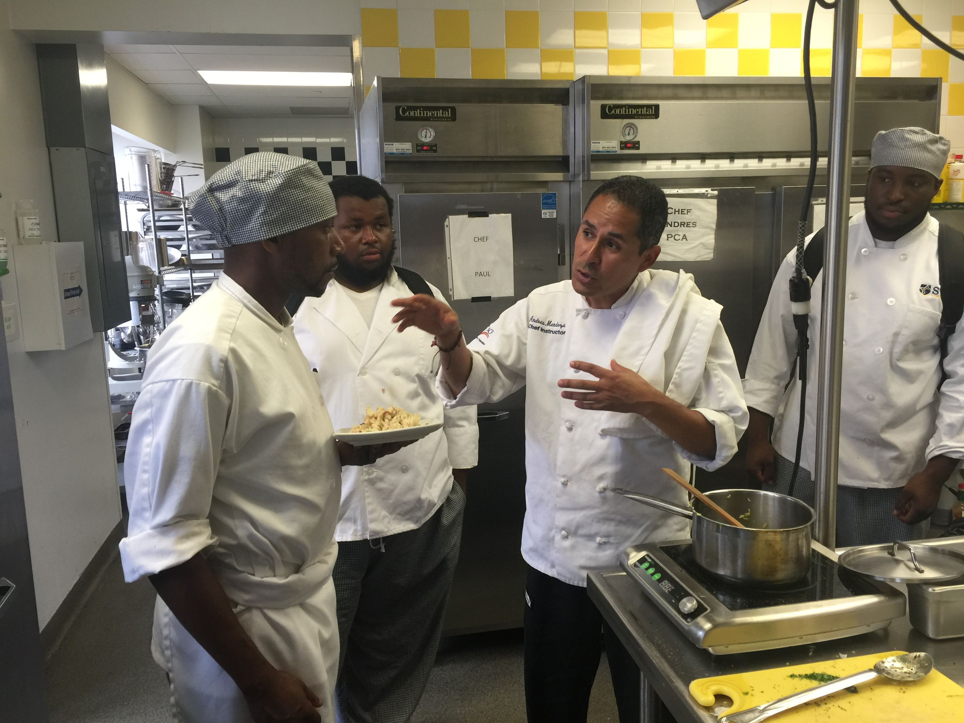 Chef Andres giving a few pointers to his #CulinaryStudents! #StarAcademy