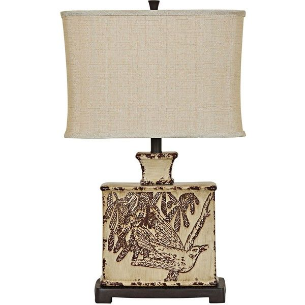 Asian Table Lamps Crestview Collection Elsie Asian Cream Ceramic Table Lamp $170