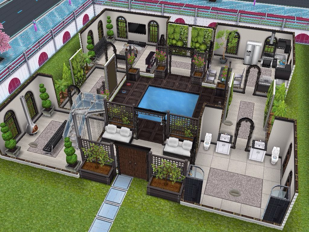 House 8 Ground Level Sims Simsfreeplay Simshousedesign Architettura