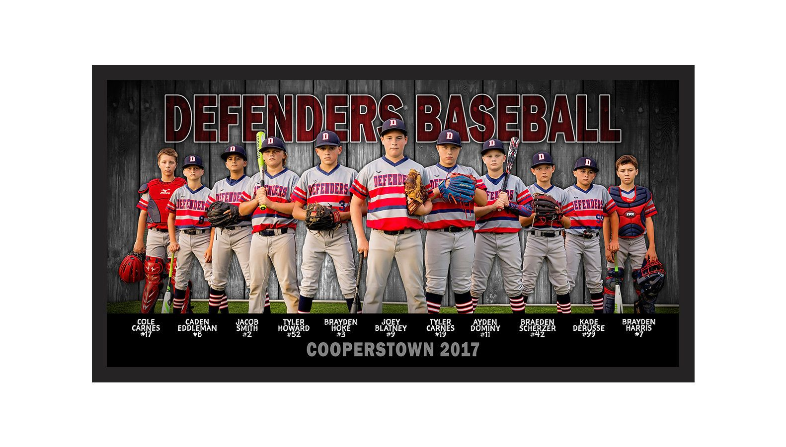 Wooden Fence Baseball Or Softball Team Photo Banner Players Names And Numbers Logo Digital P Sports Team Banners Baseball Team Banner Baseball Banner