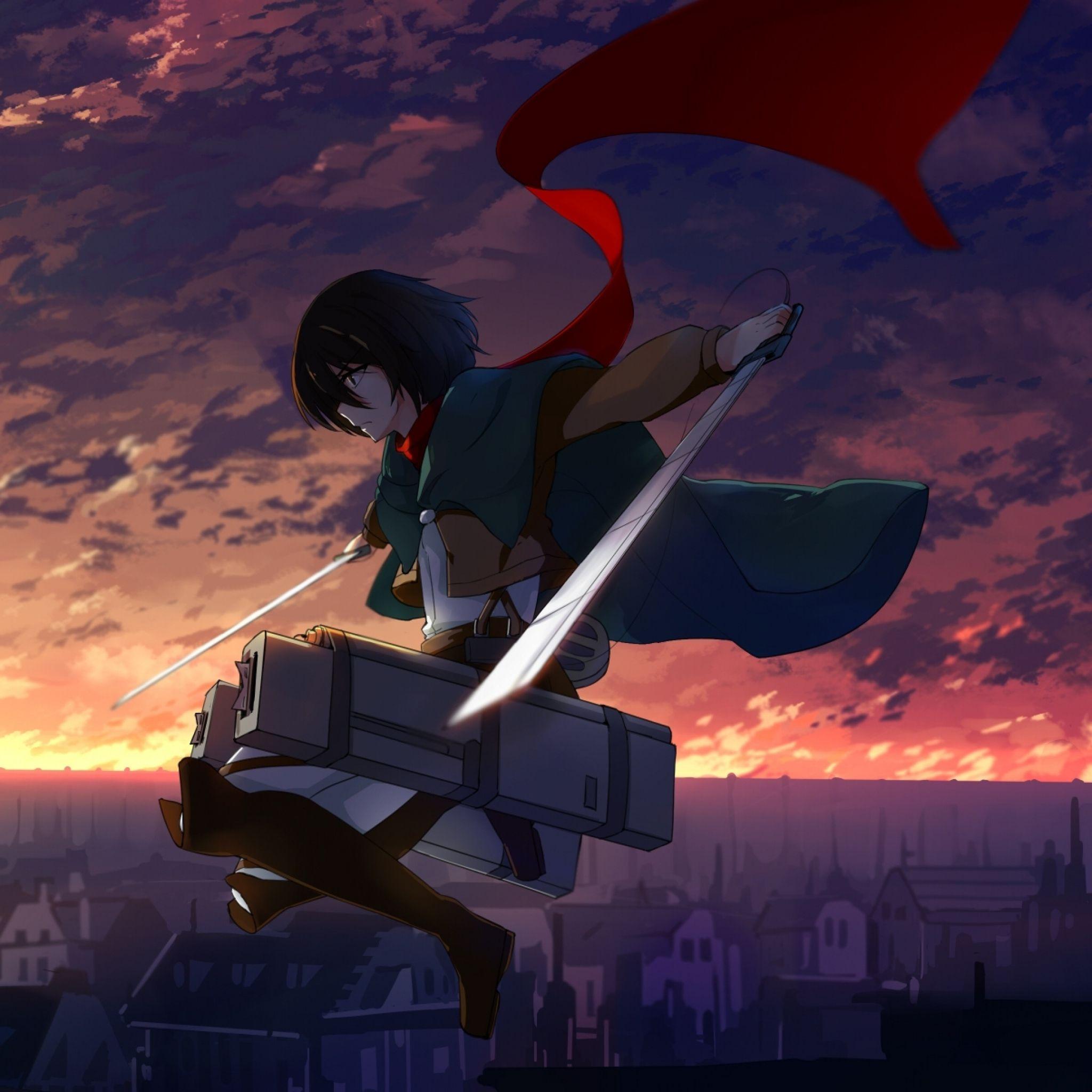 Anime Shingeki No Kyojin Mikasa Ackerman iPad Air