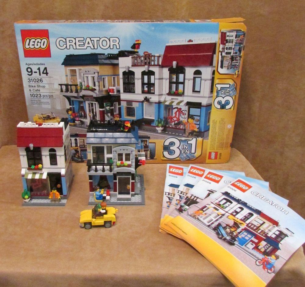 31026 Lego Complete Instructions Bike Shop Cafe House City Creator