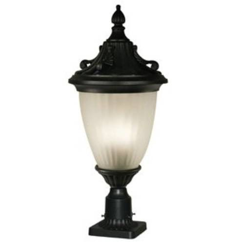 Z-Lite Waterloo Collection Black Finish Outdoor Post Light