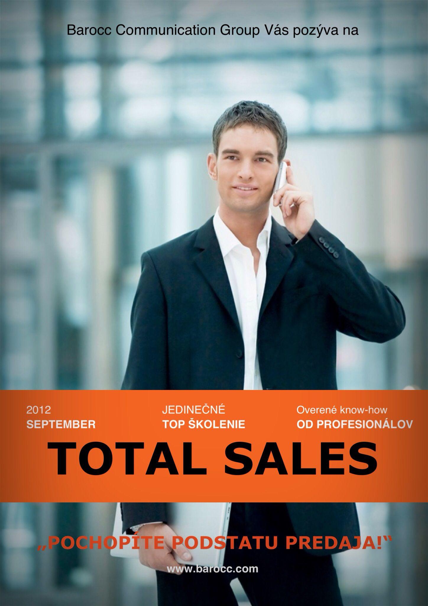 Naše prvé otvorené školenie sa konalo ešte v septembri v roku 2012 a stretlo sa s fenomenálnym ohlasom u viac ako 30 prihlásených účastníkov.  Séria TOTAL SALES sa zameriava na odovzdávanie relevantných poznatkov, techník a postupov, slúžiacich pre rozvoj predajných zručností a komunikácie so zákazníkmi.
