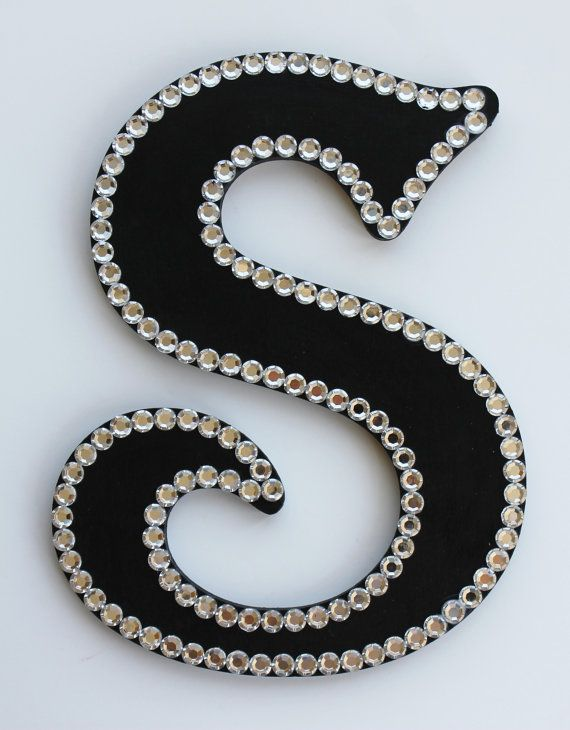 e4877c8e36141 Blinged out Handpainted Wooden Letters with by atouchofsunshine1 ...