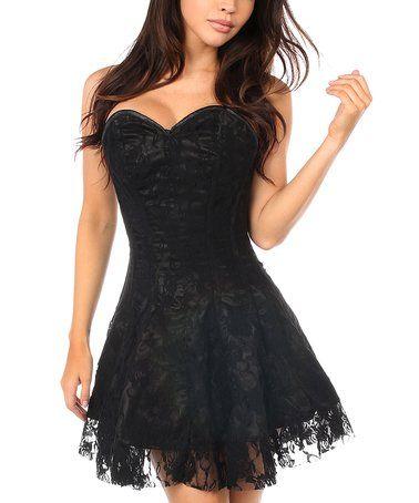 loving this black lavish lace corset dress  plus too on