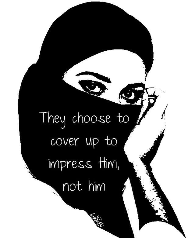 Hijab is a choice because there is no compulsion in religion