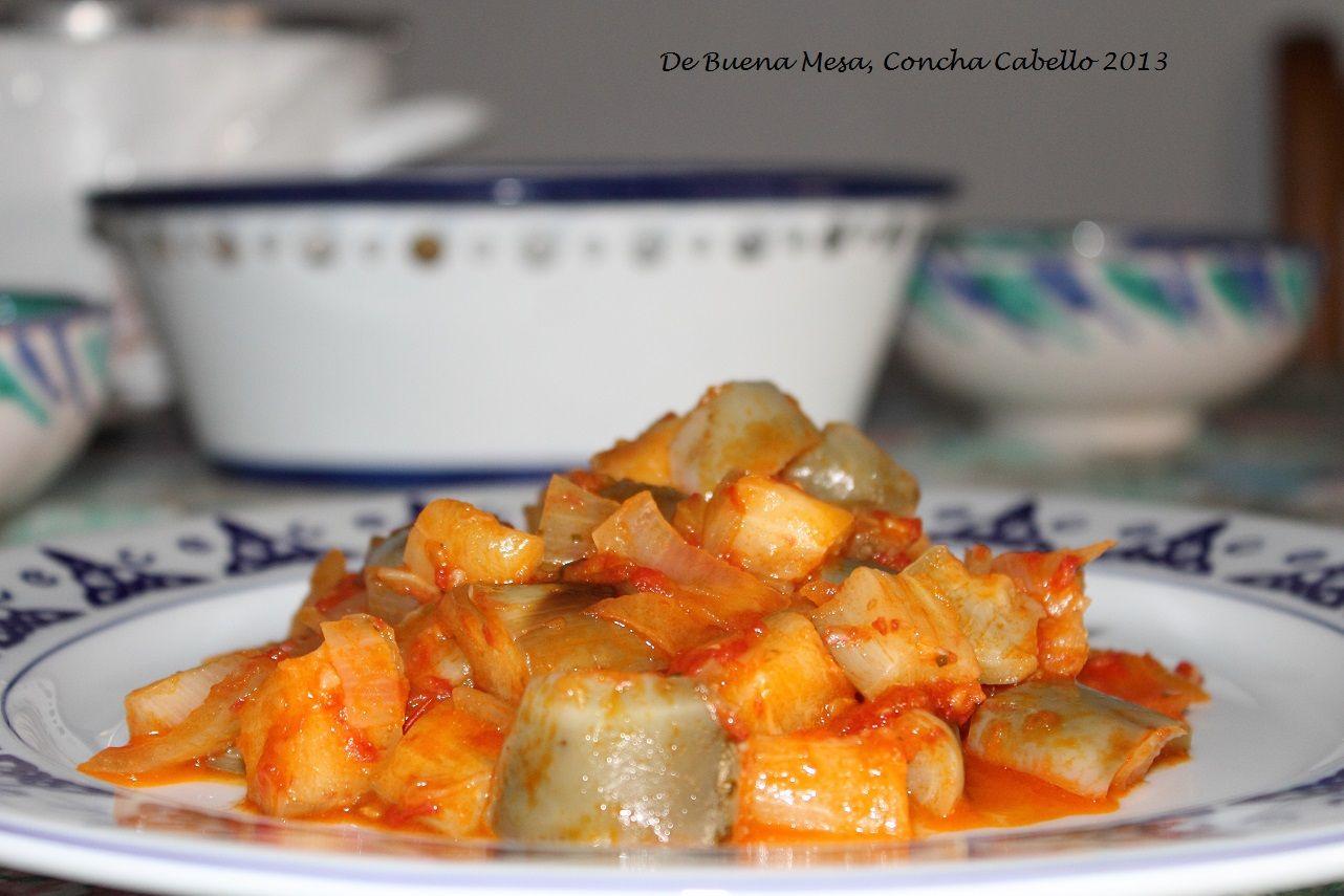 Berenjenas Blancas con Tomate
