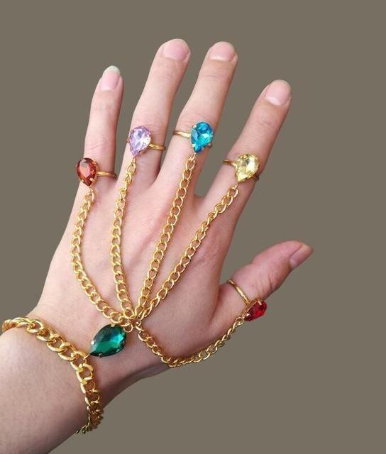Avengers  Infinity War Thanos Infinity Gauntlet Hand-chain Bracelet Ring a94cccf258d7