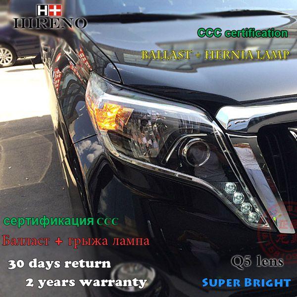 Hireno Headlamp For 2014 2016 Toyota Land Cruiser Prado Headlight Assembly Led Drl Angel Lens Double Toyota Land Cruiser Prado Toyota Land Cruiser Land Cruiser