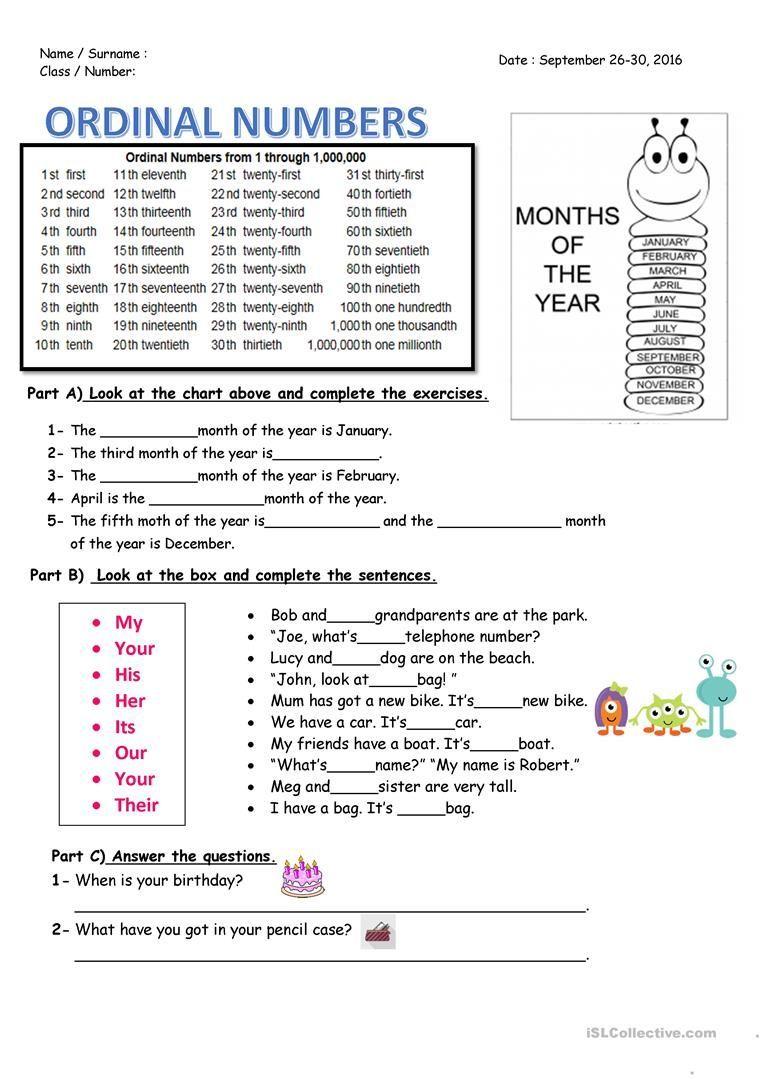 Ordinal Numbers Worksheet Free Esl Printable Worksheets Made By Teachers Ordinal Numbers Numbe In 2021 Ordinal Numbers Number Worksheets Kindergarten Number Worksheets