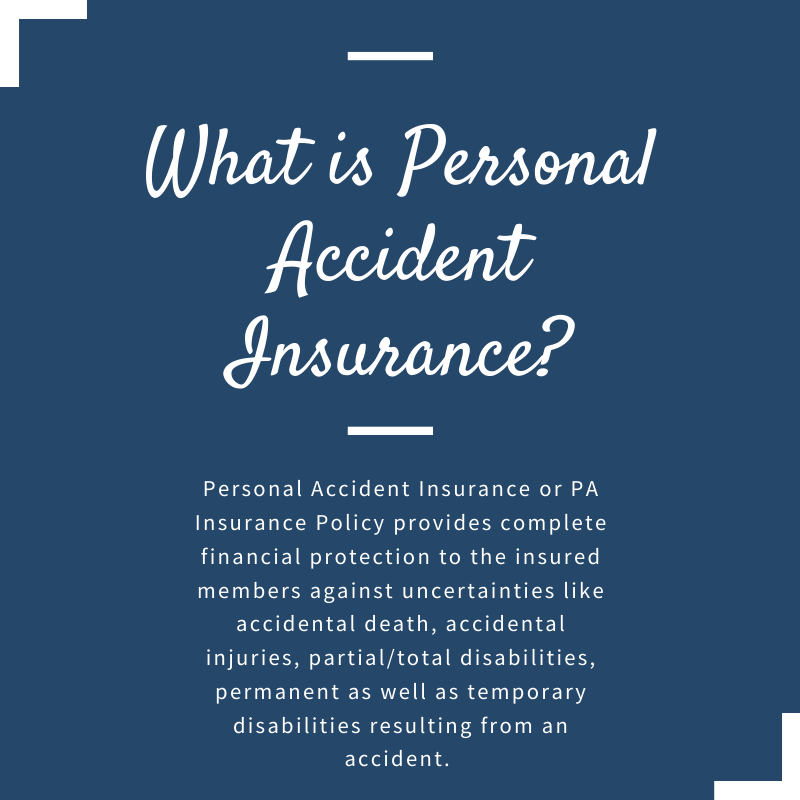 Difference Between Health Insurance And Personal Accidental