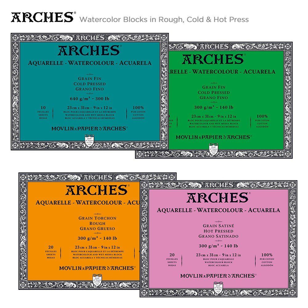 Arches Watercolor Blocks Jerry S Artarama Watercolor Best