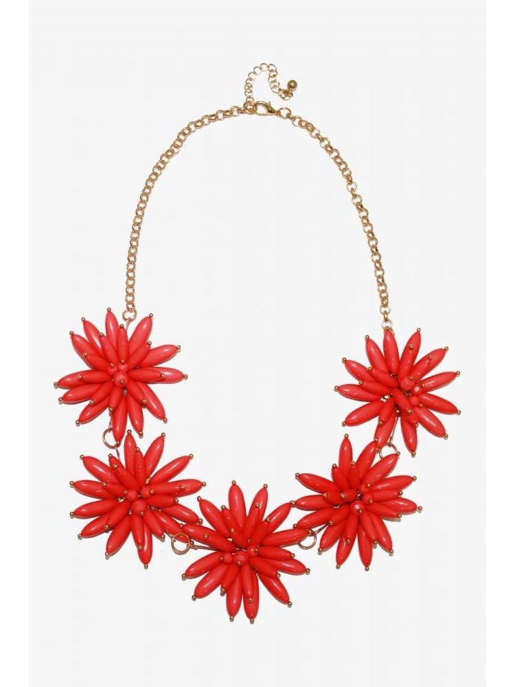 Flower Power Necklace Candy-Pink