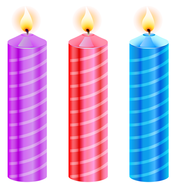 CANDLES Birthday Clipart Art Happy Holiday Candles