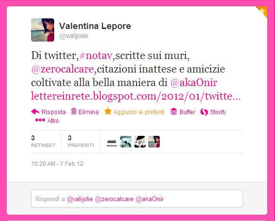 Di Twitter, #notav e scritte sui muri. @akaonir #letterinrete