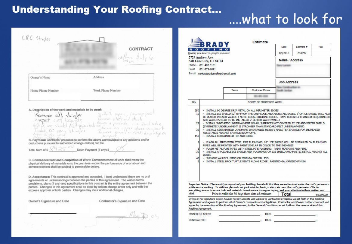 Roofing Bid Proposal Template Roofing Contract Roofing Contract Template Roofing