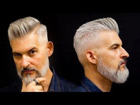 Modern Gentlemans Haircut And Beard Mens Haircut For 2018