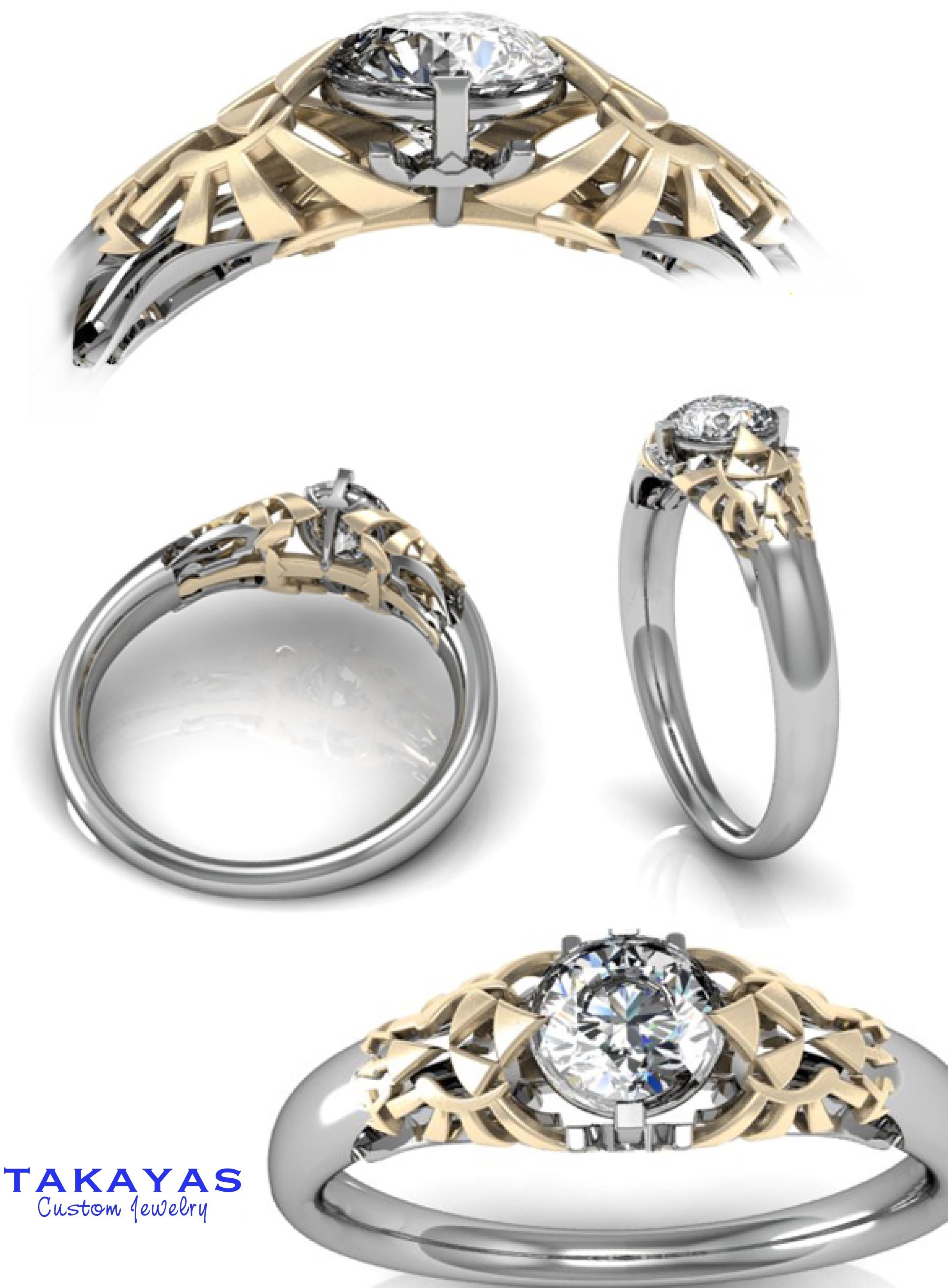 of geeky ring rings nerdy beautiful wedding engagement platinum vs