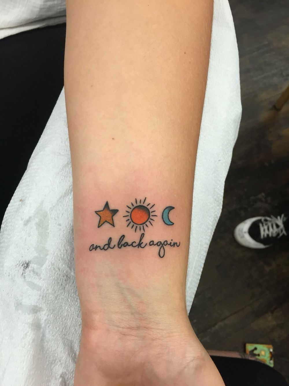 Memorial tattoo sun moon star tattoo (With images