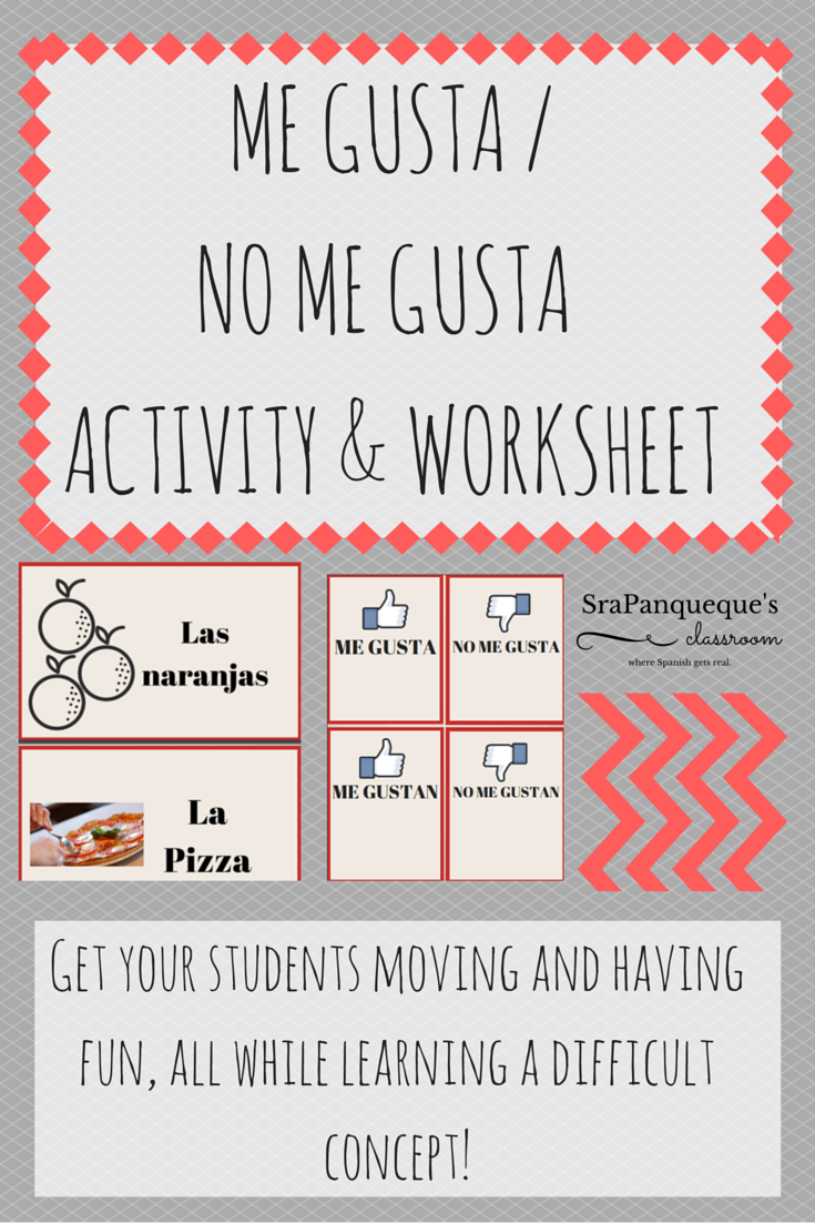 Me Gusta No Me Gusta Activity Worksheet For Educators