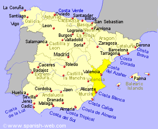 Map Of Spain Showing Costas.Map Of Spain Costa Brava Valencia Map Map Of Spain Spain Travel