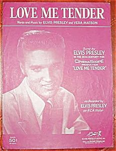 Love Me Tender, Elvis Presley Sheet Music