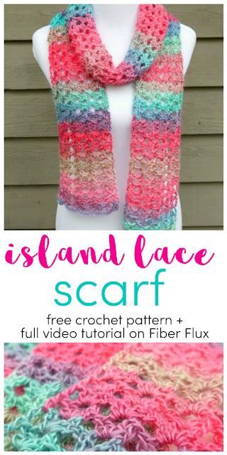 Free Crochet Pattern...Island Lace Scarf! #crochetscarves